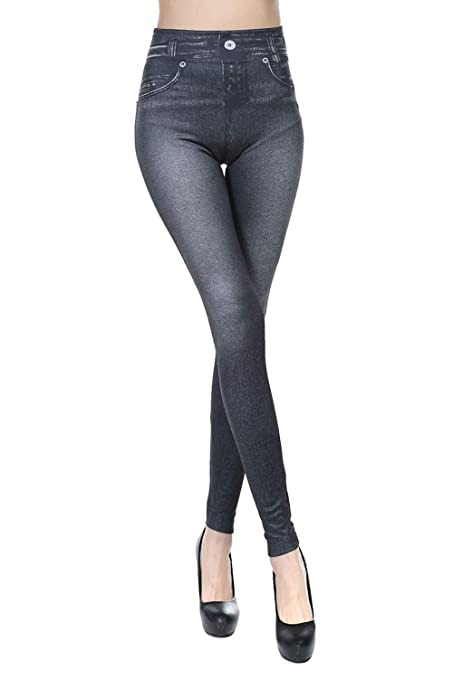 HugeDE Pantalones de Yoga Mallas de Fitness Imitacion ...