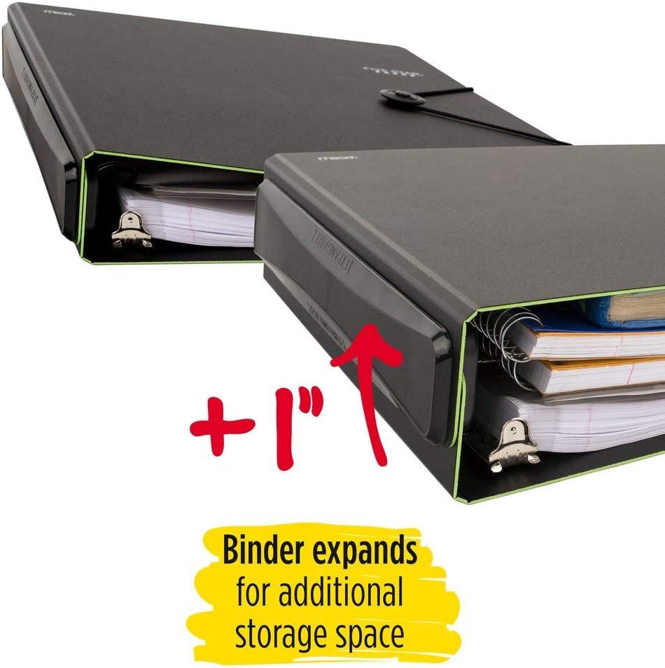 1 Expanding Spine 225 Sheet Capacity Black Five Star D-Ring Binder 26246AA2