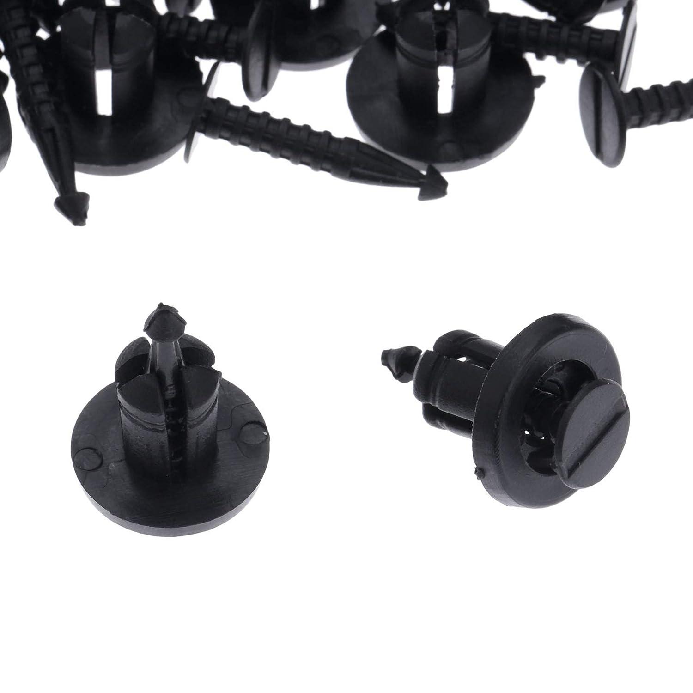 Mtsooning Lot de 50 Rivets /à vis pour Pare-Chocs automatiques en Plastique