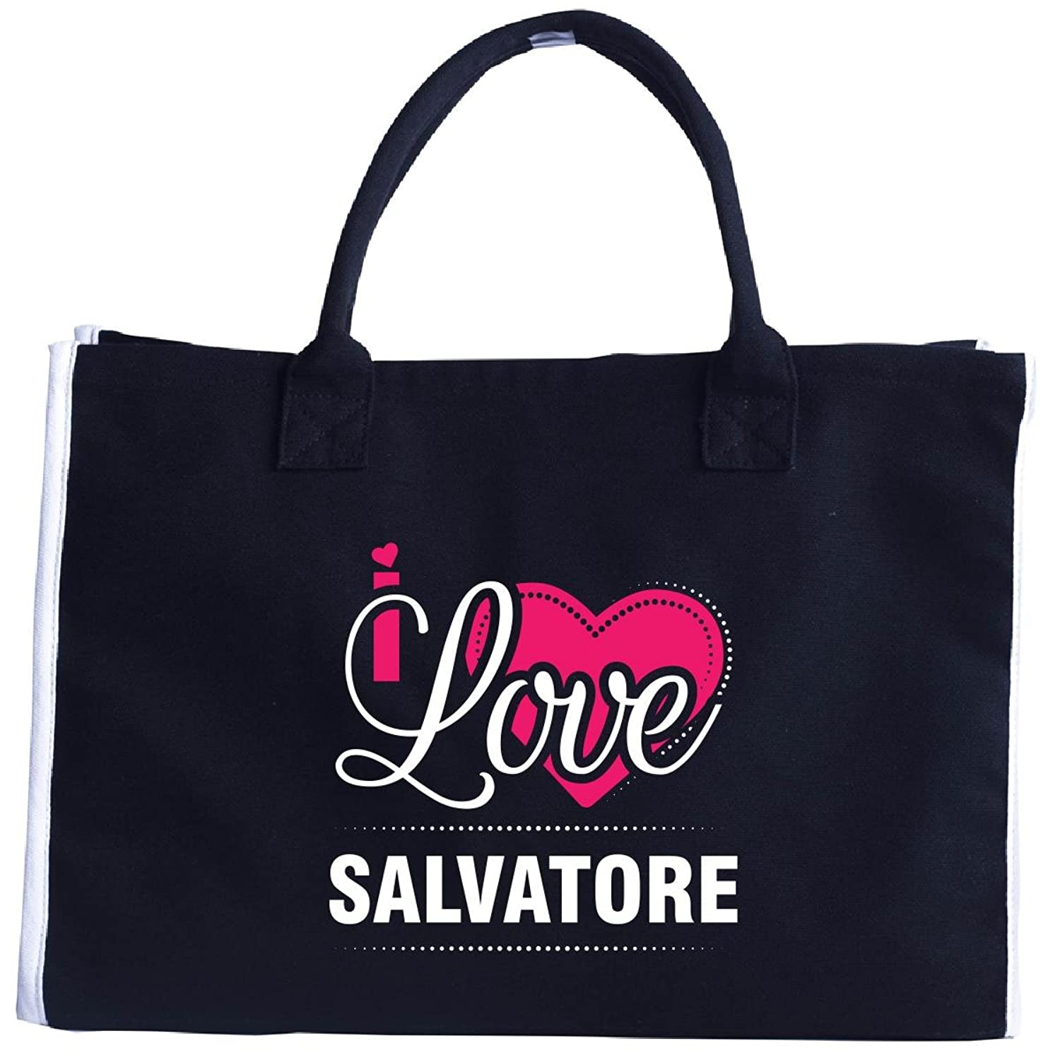 I Love Salvatore - Cool Gift For Salvatore From Girlfriend - Tote Bag