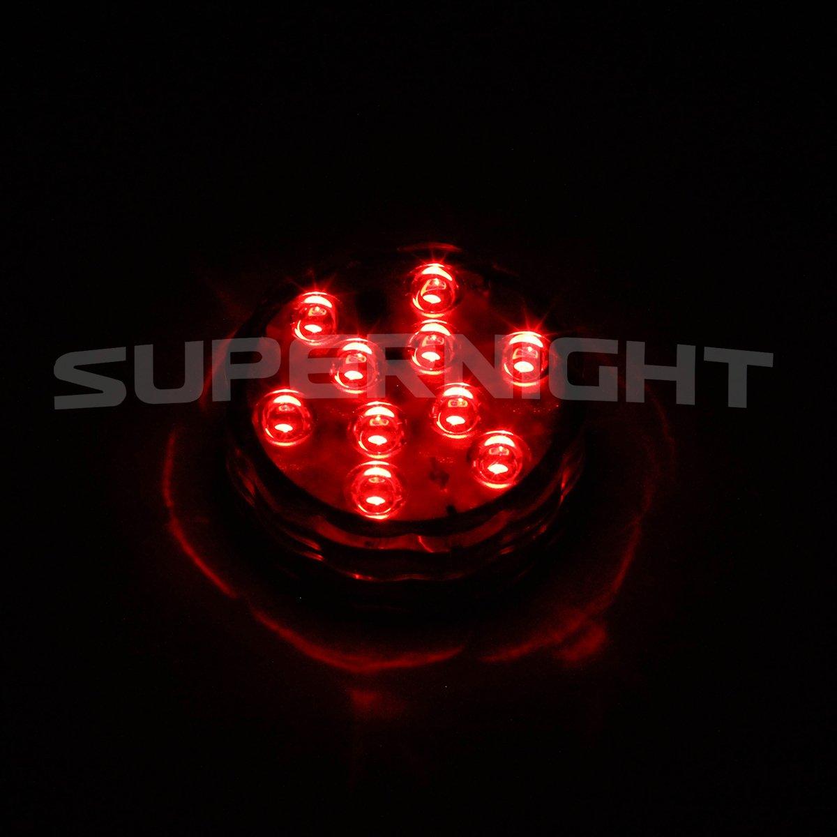Amazon.com : BINZET IR Remote Controlled RGB Submersible LED Lights ...