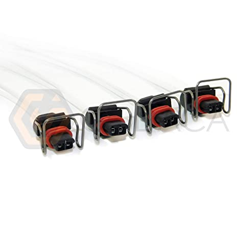Amazon com: 4x Connector 2-way 2 pin for Ford Powerstroke