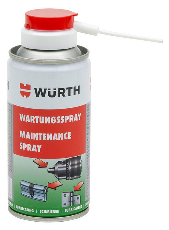 Wartungsspray - 150ml - Zum Schmieren von Scharnieren, Werkzeug- und Maschinenaufnahmen - Verhindert vorzeitigen Verschleiß und Festfressen von Hammerbohrern in Maschinenaufnahmen. Würth
