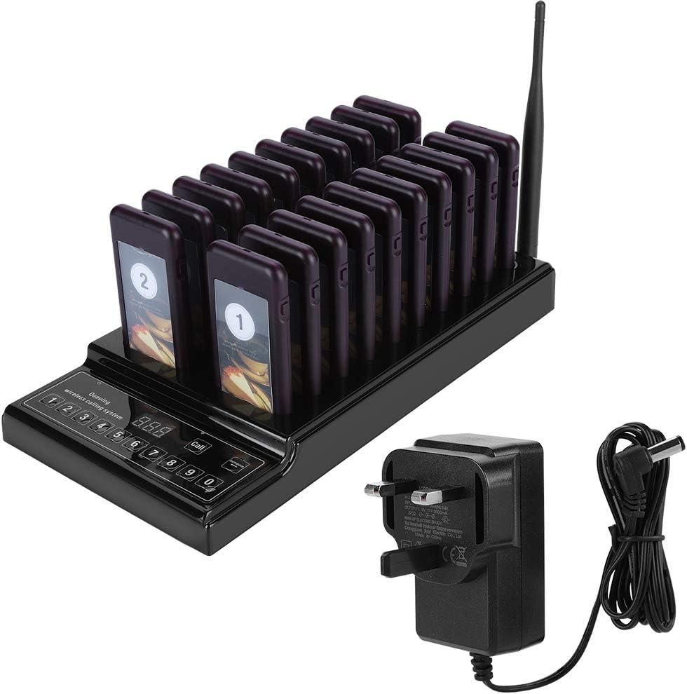 EU pulg Bewinner Sistema de Paginaci/ón de Llamadas Inal/ámbrico Receptores de 10 Buscapersonas de 1 Teclado de 10 Canale Sistema de Buscapersonas Inal/ámbrico de Base de Llamadas para Restaurantes
