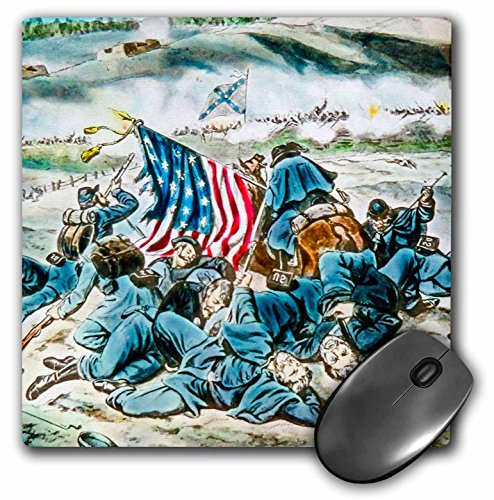 3dRose Scenes from the Past Magic Lantern Slides - Vintage American Civil War Battle of Fredericksburg Virginia - MousePad (mp_269842_1)
