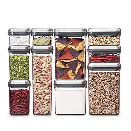 OXO SteeL 10-Piece Airtight POP Food Storage Container Set by OXO