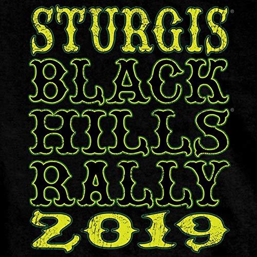 Official 2019 Sturgis Motorcycle Rally Headdress T-Shirt (BLACK Medium)