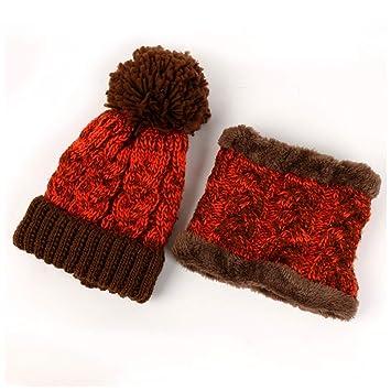 LIXUE Sombrero de Lana Mujer Otoño e Invierno Tejer Grueso Ciclismo cálido  Orejeras a Prueba de 38828302d0c