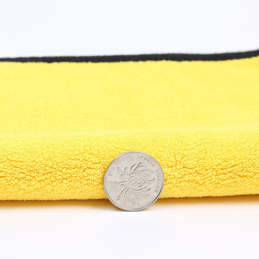 NACOLA - Toalla de limpieza de microfibra para coche, 30 x 30 cm/30 x 60 cm, súper absorbente, doble cara, multiusos, para lavado de cocina, para coche, ...