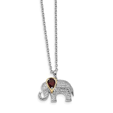 Amazon ice carats 925 sterling silver 14kt red garnet diamond ice carats 925 sterling silver 14kt red garnet diamond elephant chain necklace pendant charm gemstone fine aloadofball Images