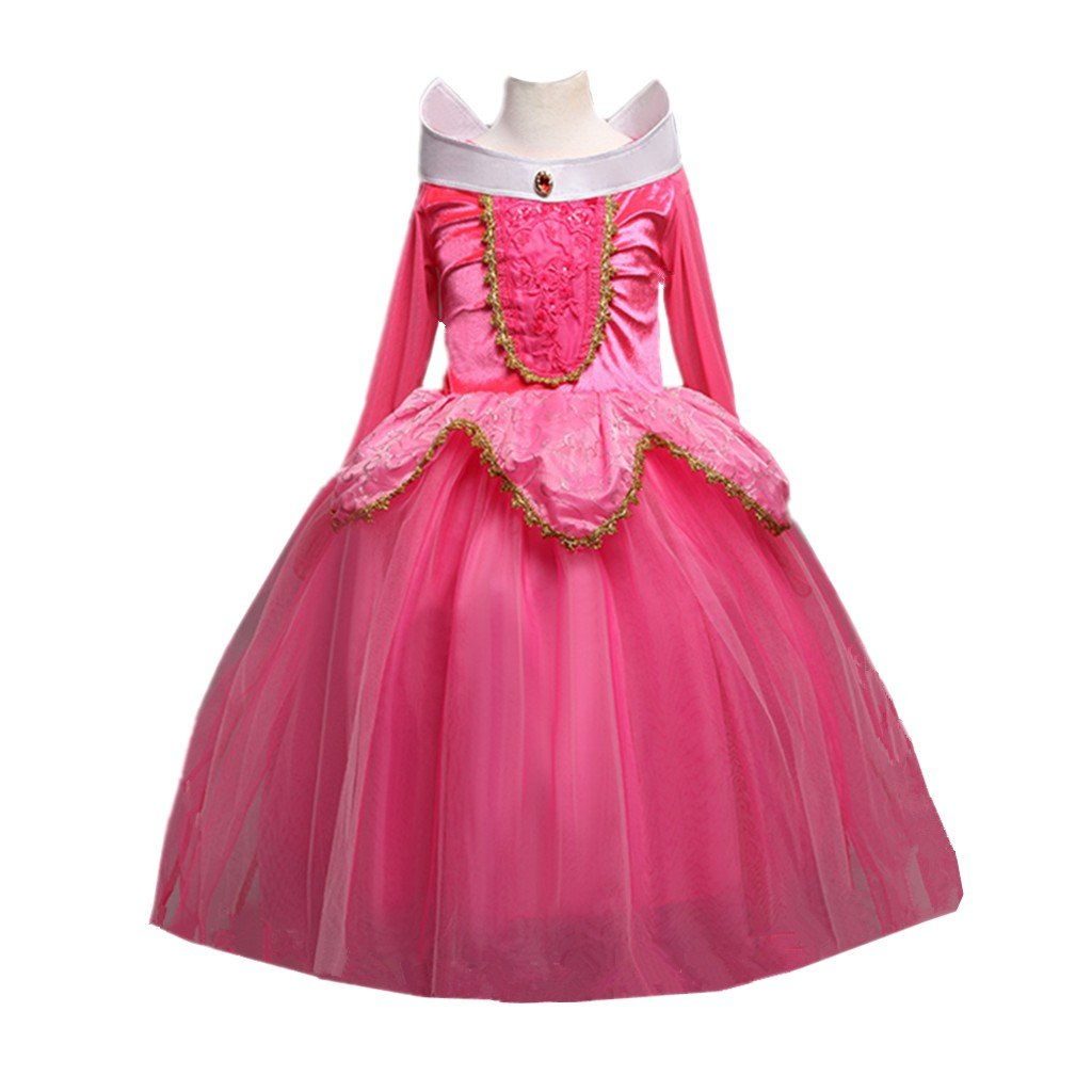 DreamHigh Sleeping Beauty Princess Aurora Party Girls Costume Dress 2-10 Years