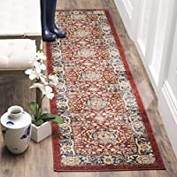 Safavieh Bijar Collection BIJ632R Traditional Oriental Vintage Red and Royal Blue Runner (23 x 8)