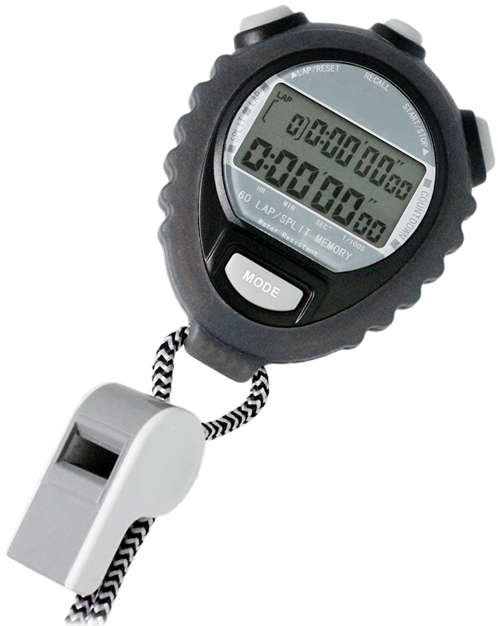 クレファー(CREPHA)デジタルストップウォッチ TEV-4026-BK