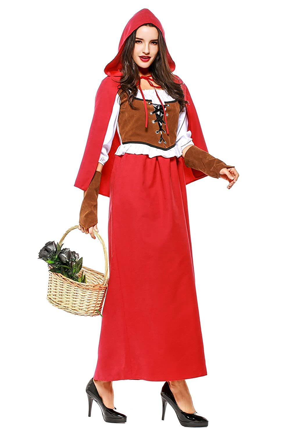 Piece can red riding hood cosplay long