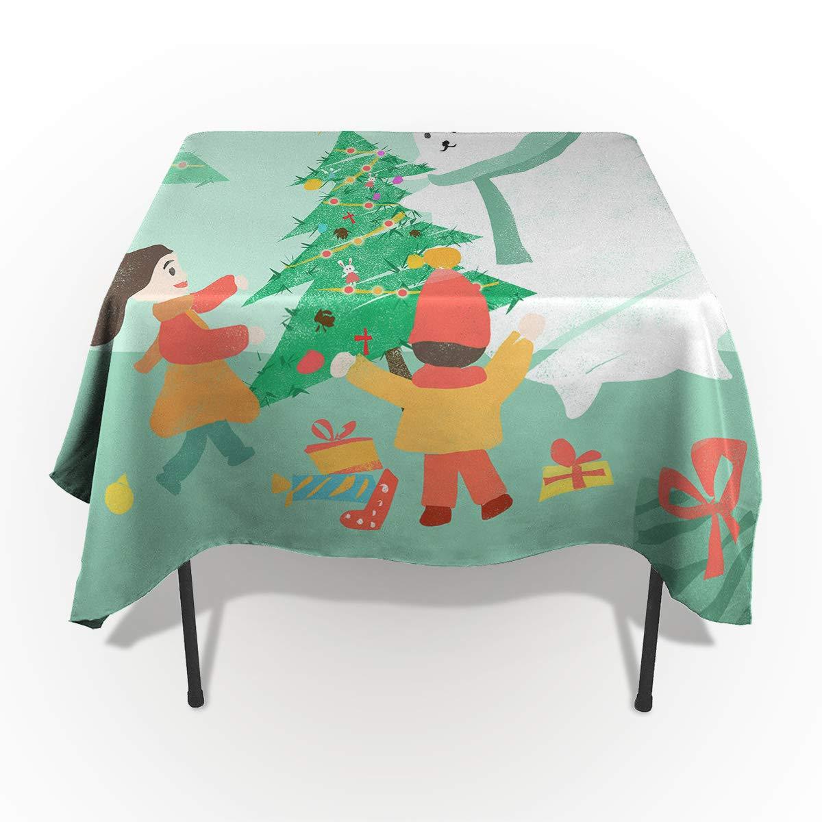 Edwiinsa テーブルクロス 流出防止 洗濯可能 布製 クリスマス クリスマス 雪の結晶 トナカイ テーブルカバー ダイニングビュッフェ テーブルパーティー ピクニックテーブル用 長方形/長方形 54 x 120 In WSJ-181113-zbuXmas-SWTQ00380ZBAGEDA 54 x 120 In Snowmangifteda4991 B07L8HJZ68
