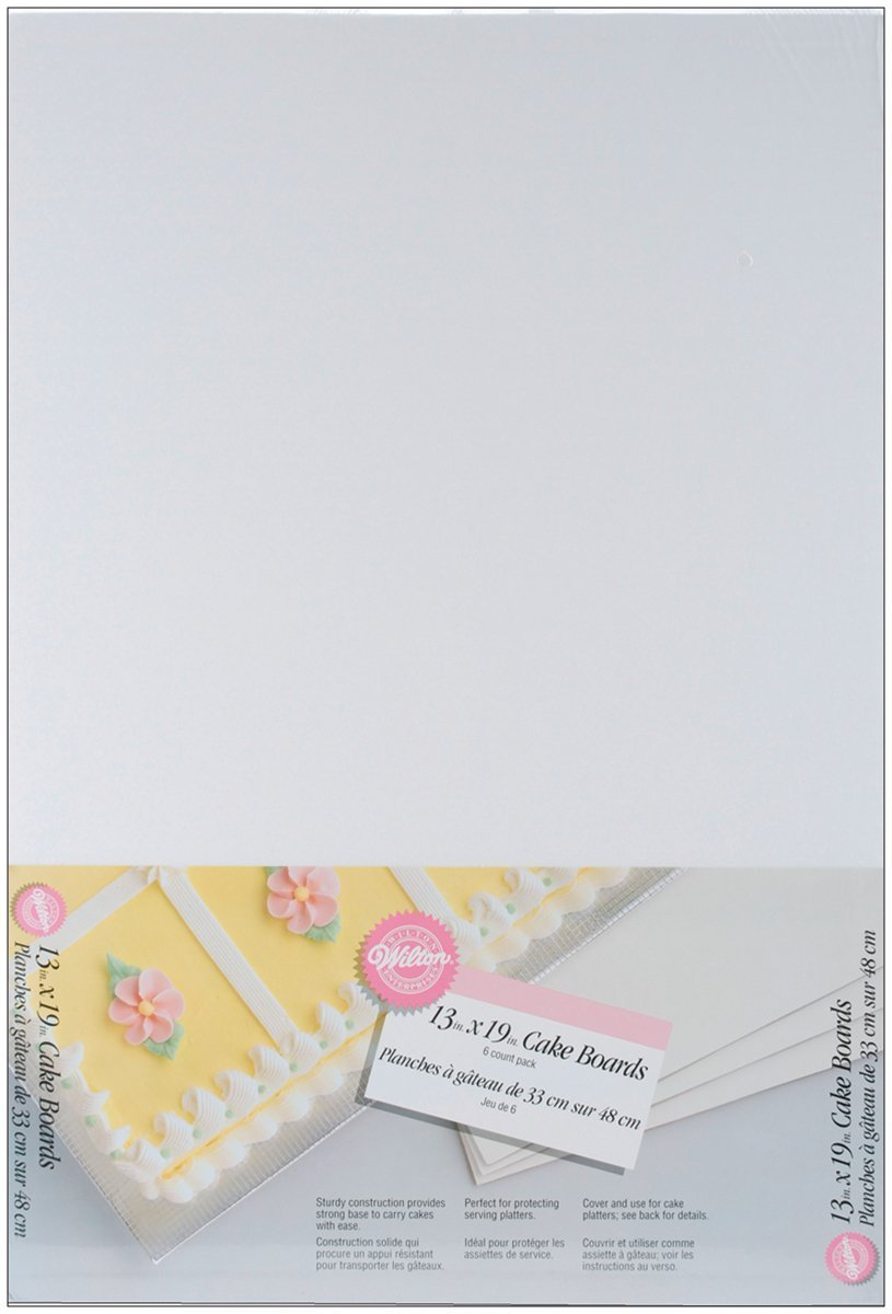 Wilton 13 x 19 Inch Cake Board, 6-Pack