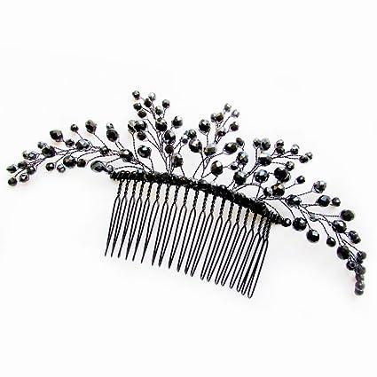 Pumpkin wedding hair accessories Black hair pins Black wedding Witch hair piece Gothic comb Widow hair pins Spiders Bats Decadence hair pins