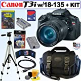 Canon EOS Rebel T3i 18 MP CMOS Digital SLR Camera with EF-S 18-135mm f/3.5-5.6 IS Standard Zoom Lens + 16GB Deluxe Accessory Kit, Best Gadgets