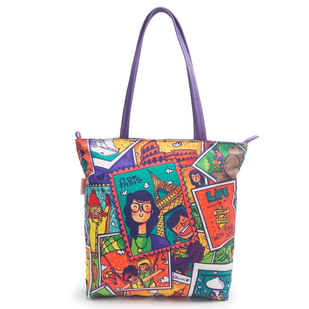 Chumbak Multicolored Tote Bag