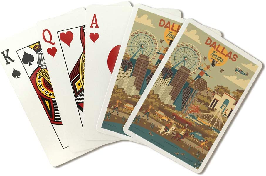 Amazon Com Dallas Texas Geometric City Series 108592 Playing Card Deck 52 Card Poker Size With Jokers Everything Else
