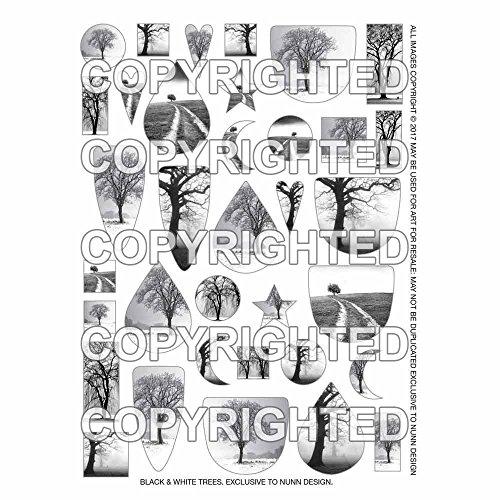 (Nunn Design Transfer Sheet, Assorted Trees, 1/2 Sheet, Black and White)
