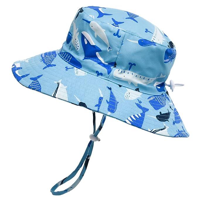 04c2c9026e7ecd Baby Hat Sun Protection - UPF 50+ Outdoor Beach Summer Hats for Toddler  Boys Girls