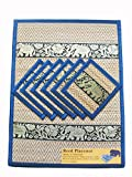 Best McCall's Blinds - Set of 6 Elephant Pattern Handmade Dinner Reed Review