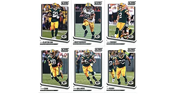 2018 Score Green Bay Packers Veteran Team Set of 11 Cards  Aaron  Rodgers( 114) 56a514dd5