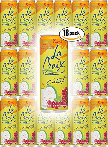 La Croix Pomme Baya, Apple Cranberry Flavored Naturally Essenced Sparkling Water, 12oz Tall Can (Pack of 18, Total of 216 Oz)