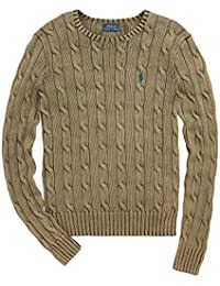 Women's Cable Knit Crew Neck Sweater