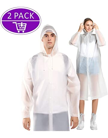 a2f6b1a169 Adult Poncho Waterproof, Portable Raincoat, Reusable Waterproof Poncho EVA  Material, with Hoods and