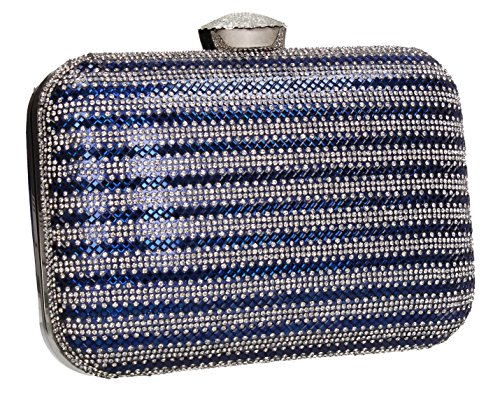 Womens Bag Tone SWANKYSWANS Prom Box Wedding Blue Party Jane Two Diamante Clutch aHvwIvqO