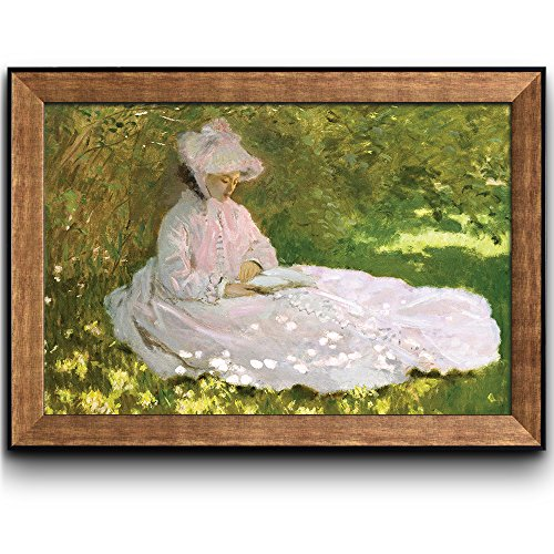 Springtime by Claude Monet (No Signature) Framed Art