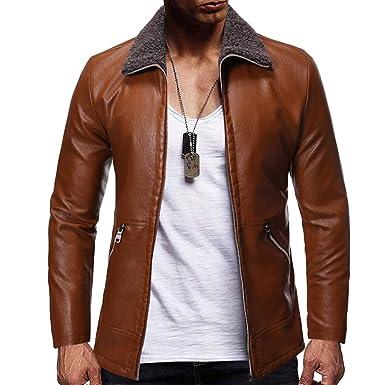 buy popular 9ce35 86303 Giacca Moto Uomo,Nuovo Stile alla Moda Pure-Colore ...