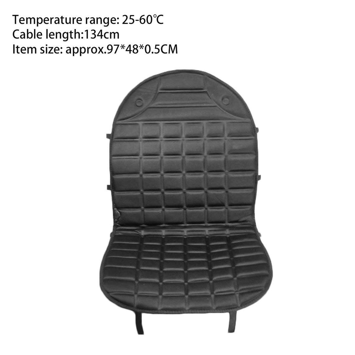Zinniaya Durable Car Seat Heated Cover 12V Front Seat Heater Auto Winter Warmer Cushion Portable Automobile Accessories