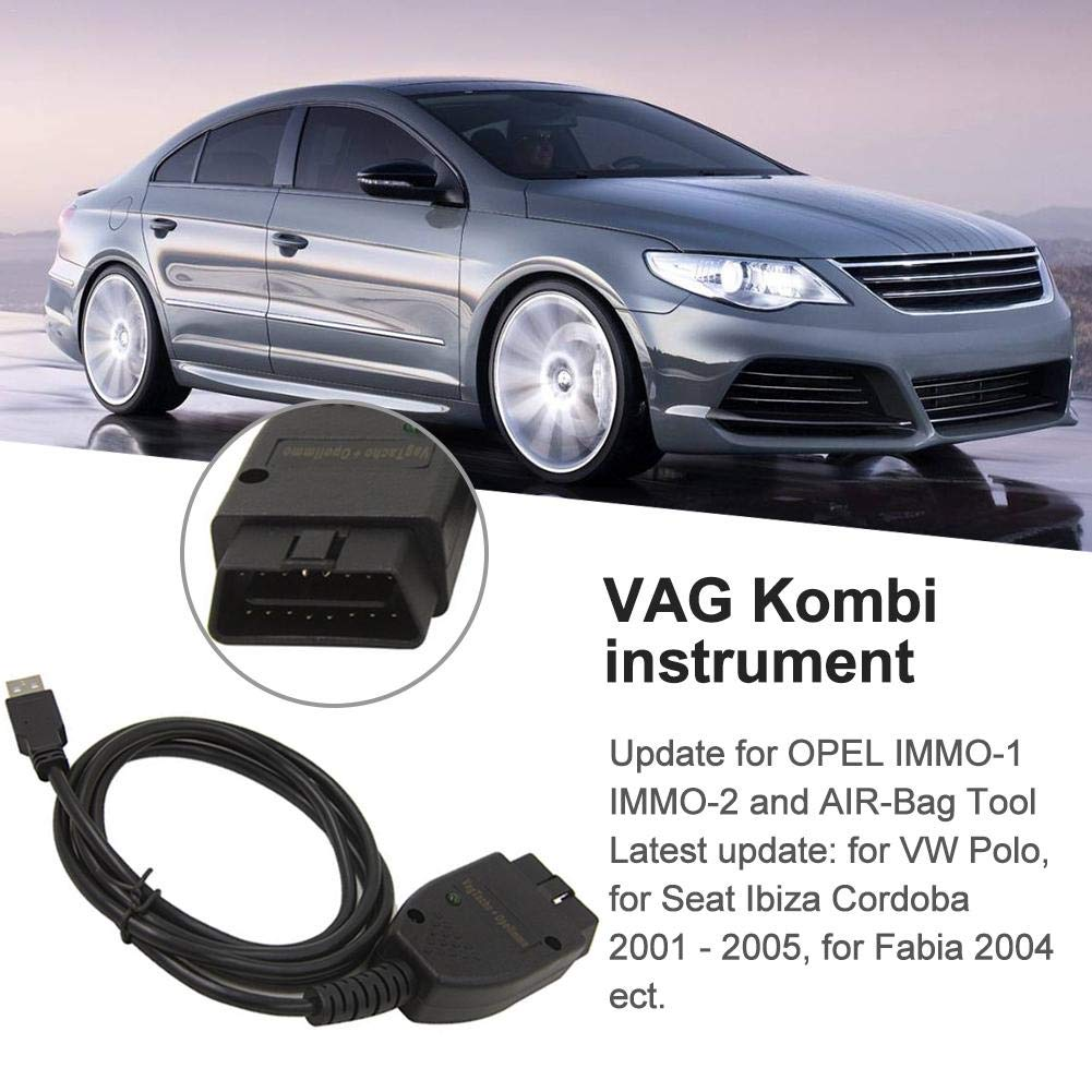 para Volkswagen Audi Cable de Ajuste de kilometraje del autom/óvil Vag Tacho 3.01 para AIRBAG Opel Immo