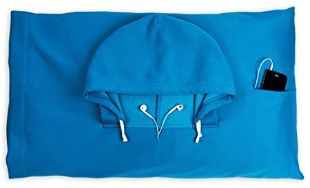 HoodiePillow Hooded Pillowcase - Blue