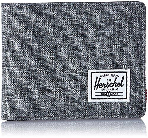 Herschel Supply Co. Men's Hank RFID Wallet, Raven Crosshatch/Black Synthetic Leather, One ()