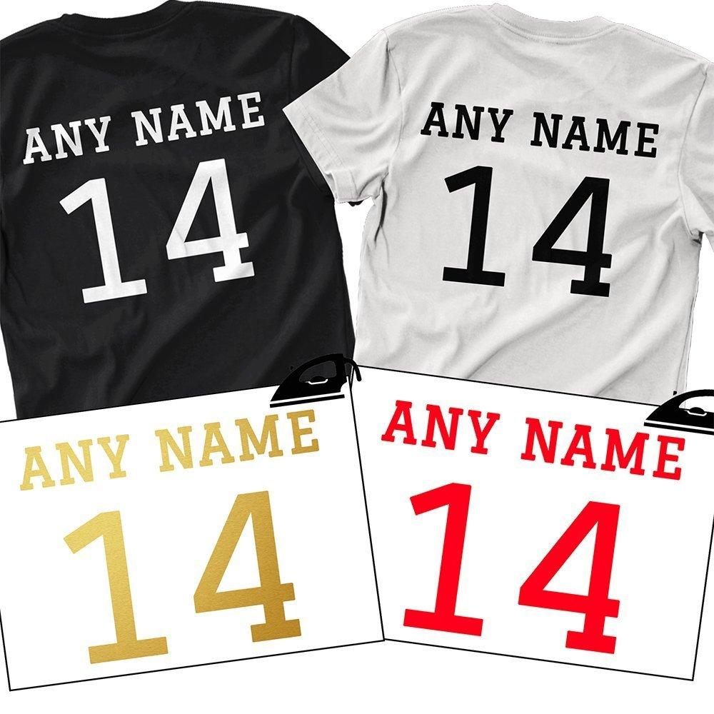 Personalise T-shirt Sport Football Number Birthday Gift Christmas Kids HTV vinyl