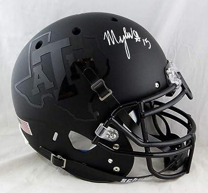 Myles Garrett Autographed Helmet - F S Texas AM Black Authentic Schutt W  Aut - JSA Certified fe6e05403