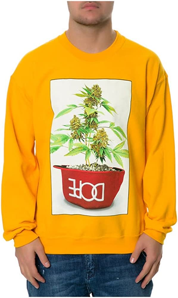 DOPE Mens The Potted Sweatshirt Large Yellow