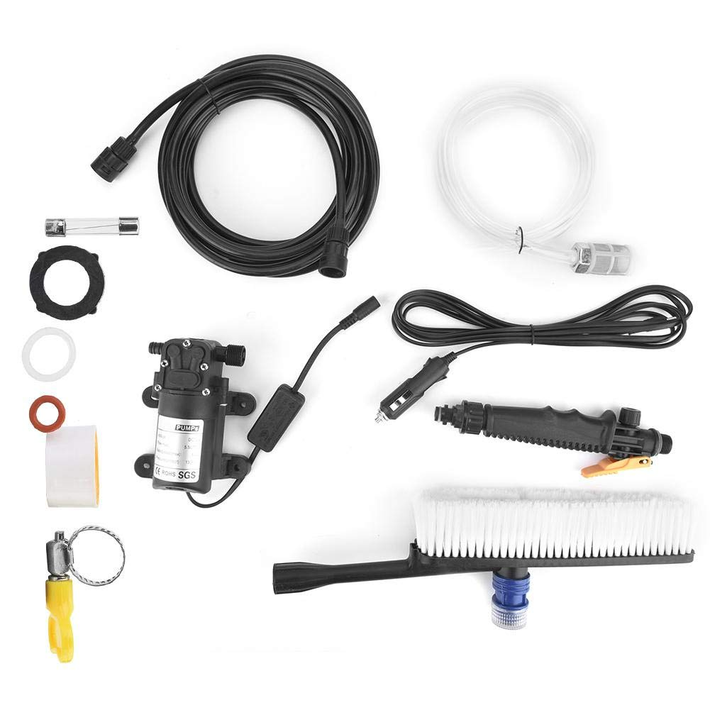 24V Pressure Washer, Spray Gun Electrical Car Wash Pump Used in Car Cleaning, Household Cleaning, Air-Conditioning Cleaning, Garden Spray with 6 Meters Spray Water Pipe by Vikye