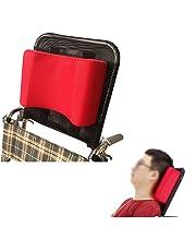 Cojín para reposacabezas de silla de ruedas, acolchado, para adultos, portátil, accesorio para silla de ruedas ajustable de 40 a 50 cm, color rojo