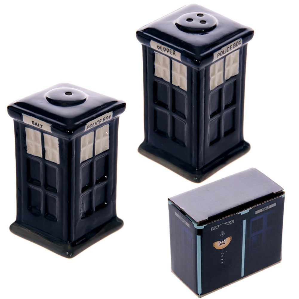 Ceramic London Salt and Pepper Set, Police Box Puckator LON05