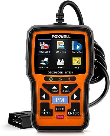 FOXWELL NT301 OBDII Diagnostic Code Reader