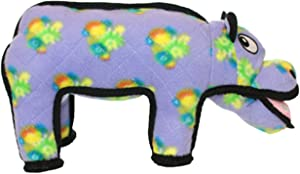 TUFFY - World's Tuffest Soft Dog Toy - Zoo Hippo - Squeakers - Multiple Layers. Made Durable, Strong & Tough. Interactive Play (Tug, Toss & Fetch). Machine Washable & Floats.