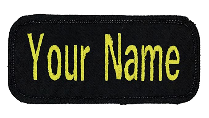Name patch Uniform or work shirt personalized Identification tape  Embroidered Sew On or Hook Fastener,