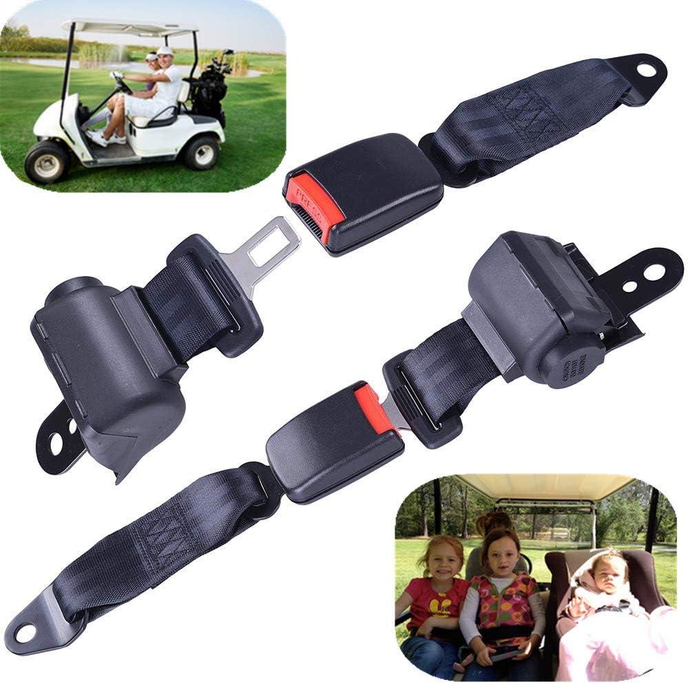 360cm Sky Blue Sport Car Safety Belt Kit Front 3 Point Retractable Car Seat Belt