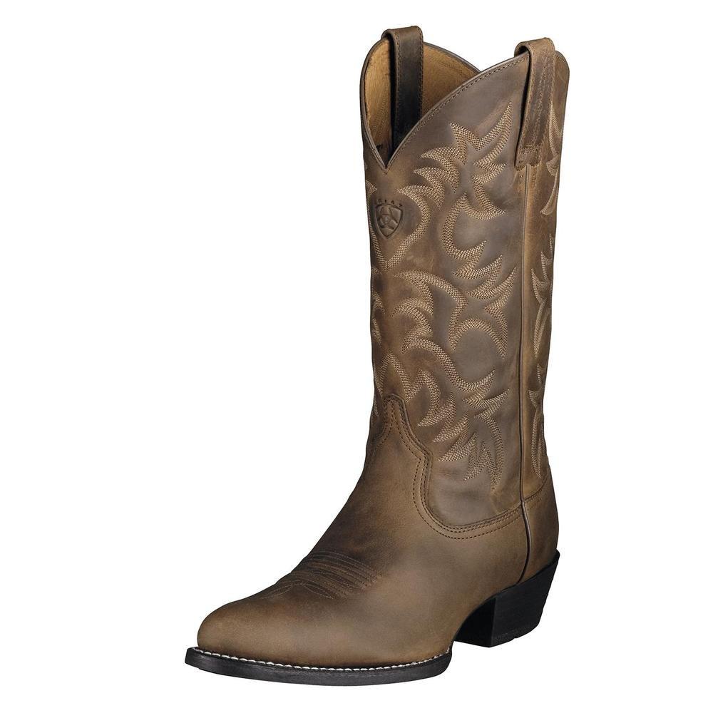 Brown ARIAT Men's Heritage Western R Toe Boot