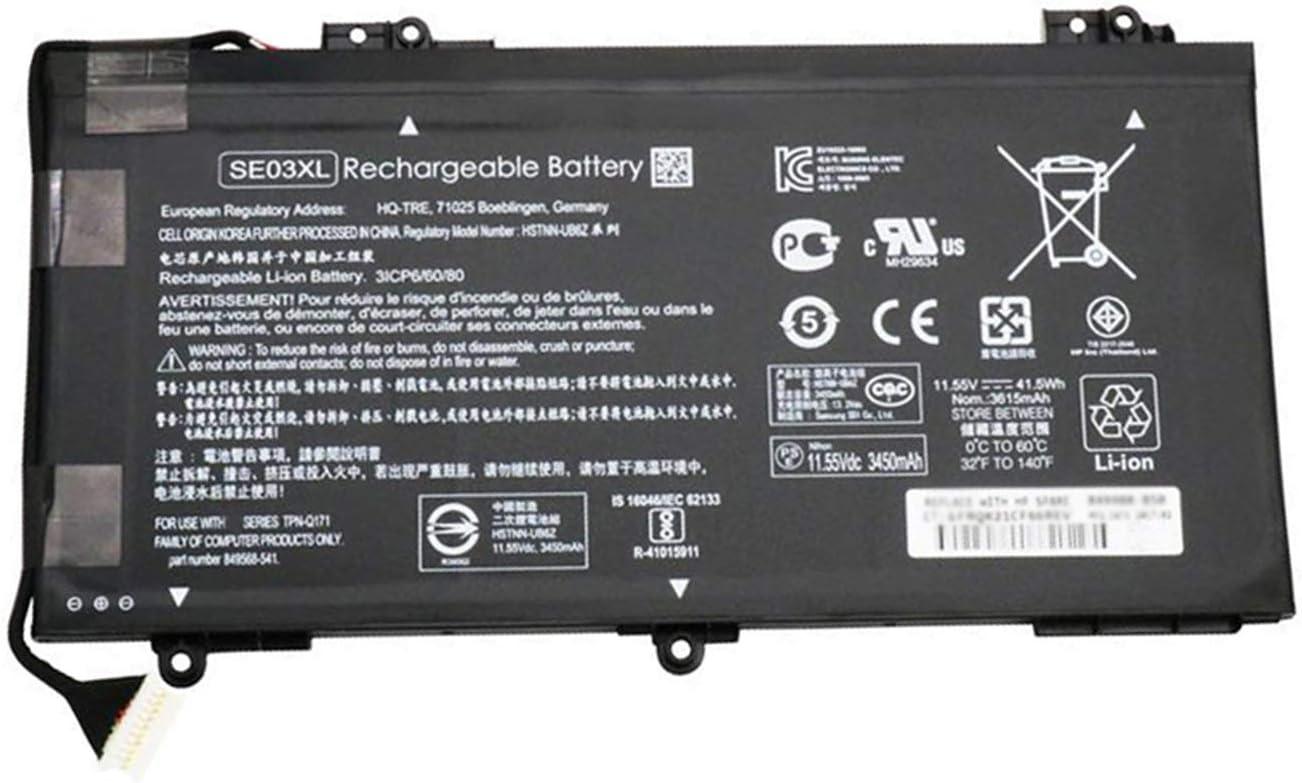 BOWEIRUI SE03XL (11.55V 41.5Wh 3615mAh) Laptop Battery Replacement for Hp TPN-Q171 Pavilion 14 Series HSTNN-LB7G HSTNN-UB6Z 849568-421 849908-850